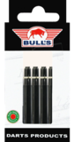 Bull's Nylon Ring shafts medium zwart - 5 pack
