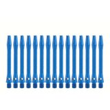 Bull's Short Aluminium shafts blauw - 5 pack