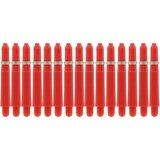 Bull's Short Nylon Ring shafts rood - 5 pack