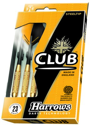 Harrows Club Brass steeltip dartpijlen