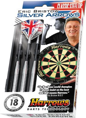 Harrows Eric Bristow Silver Arrows steeltip dartpijlen