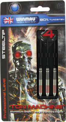 Winmau Ton Machine Red steeltip dartpijlen