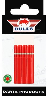 Bull's Medium Nylon Ring shafts rood - 5 pack