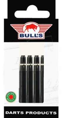 Bull's Medium Nylon Ring shafts zwart - 5 pack