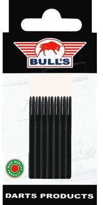 Bull's Medium Aluminium shafts zwart - 5 pack
