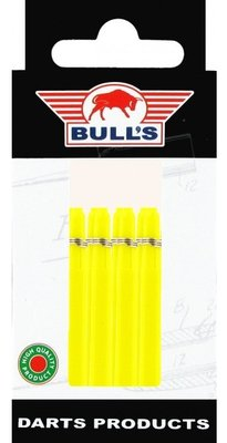 Bull's Medium Nylon Ring shafts geel - 5 pack