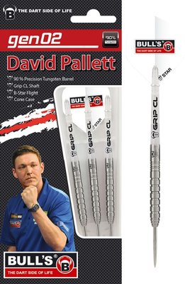 Bull's David Pallett Generation II 90% steeltip dartpijlen