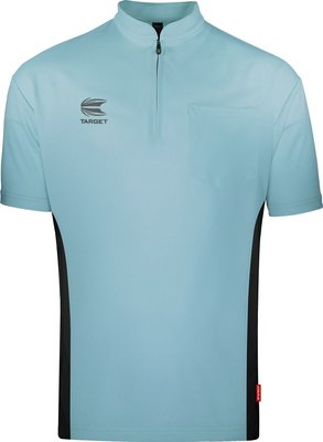 Target Coolplay Collarless Light Blue/Black 2019 dartshirt
