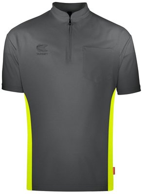 Target Coolplay Collarless Grey/Yellow 2019 dartshirt