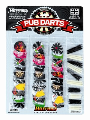 Harrows Pub darts showcard