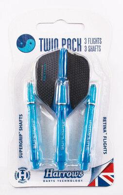 Harrows Twin Pack Supergrip Aqua
