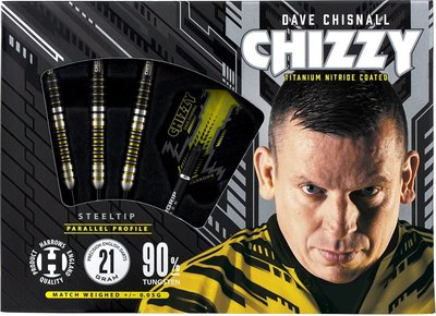Harrows Dave Chisnall Chizzy 90% steeltip dartpijlen