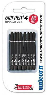 Unicorn Gripper 4 Medium Nylon Ring shafts zwart - 5 pack