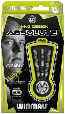 Winmau Michael van Gerwen Absolute 90% tungsten steeltip dartpijlen