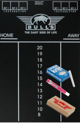 Bull's Medium krijtbord scorebord met accessoires