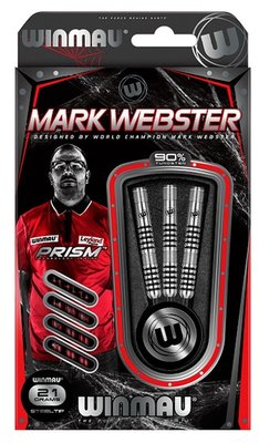 Winmau Mark Webster 90% steeltip dartpijlen