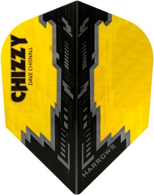 Harrows Dave Chisnall Prime Chizzy Yellow Black flights