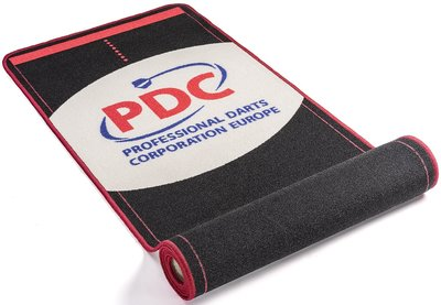PDC Europe dartmat rood