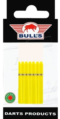 Bull's In Between Nylon Ring shafts geel - 5 pack