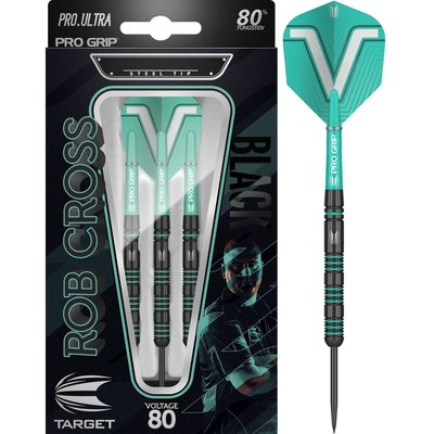 Target Rob Cross Black 80% steeltip dartpijlen