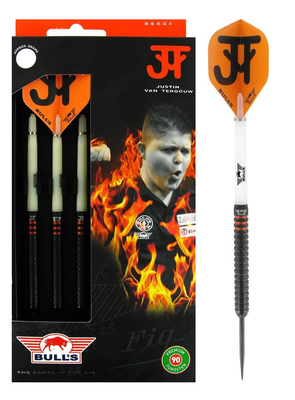 Bull's Justin van Tergouw Phase 4 Black 90% steeltip dartpijlen