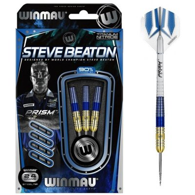 Winmau Steve Beaton Gold Blue 90% steeltip dartpijlen