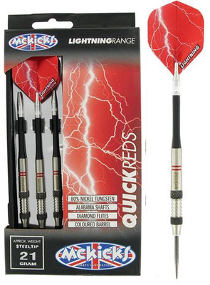 McKicks Quick Reds 80% steeltip dartpijlen