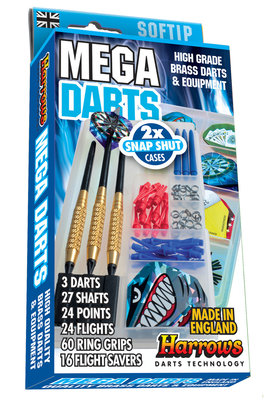 Harrows Mega Darts Giftset Softtip dartpijlen