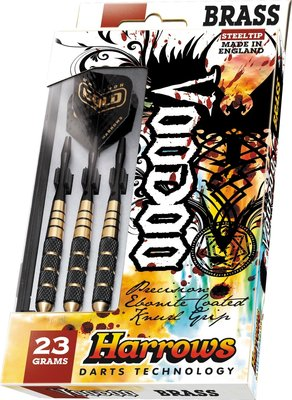 Harrows Voodoo Ebonite steeltip dartpijlen