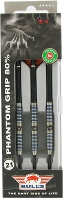 Bull's Tungsten Phantom Grip 80% steeltip dartpijlen