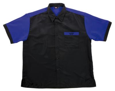 Bull's Buckshot dartshirt zwart/blauw