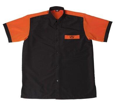 Bull's Buckshot dartshirt zwart/oranje