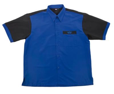 Bull's Buckshot dartshirt blauw/zwart