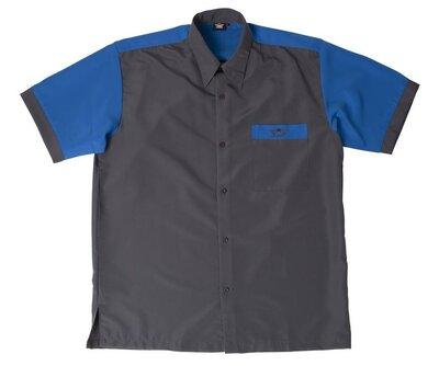 Bull's Buckshot dartshirt grijs/blauw