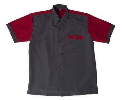 Bull's Buckshot dartshirt grijs/rood