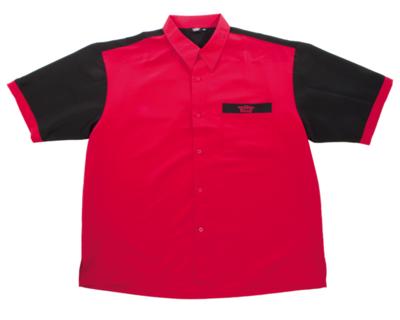 Bull's Buckshot dartshirt rood/zwart