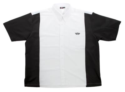 Bull's Buckshot dartshirt wit/zwart