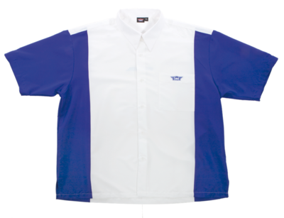 Bull's Buckshot dartshirt wit/blauw