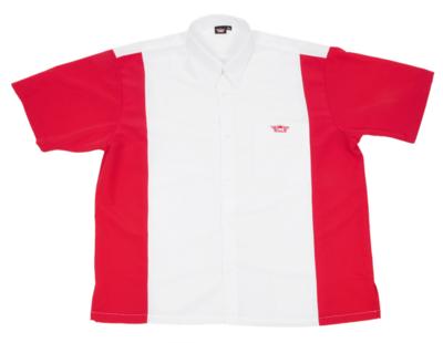 Bull's Buckshot dartshirt wit/rood
