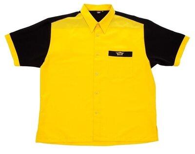 Bull's Buckshot dartshirt geel/zwart