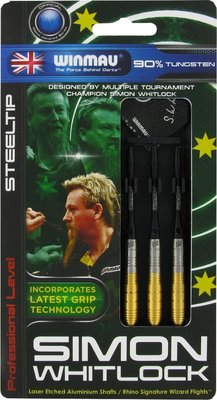 Winmau Simon Whitlock gold steeltip dartpijlen