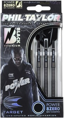 Target Phil Taylor Power 8Zero black steeltip dartpijlen