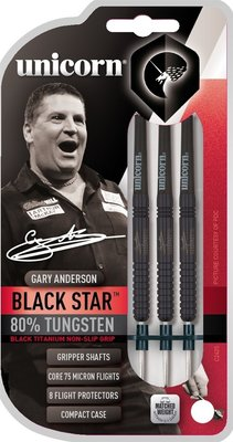 Unicorn Blackstar Gary Anderson steeltip dartpijlen