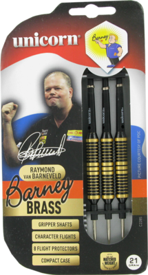 Unicorn Brass Black Barney steeltip dartpijlen