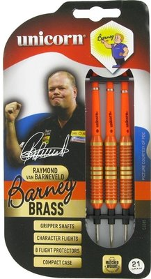 Unicorn Brass Orange Barney steeltip dartpijlen