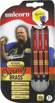Unicorn Brass Red Barney steeltip dartpijlen