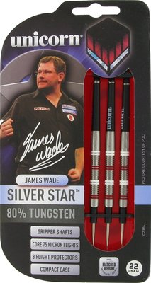 Unicorn Silverstar James Wade steeltip dartpijlen