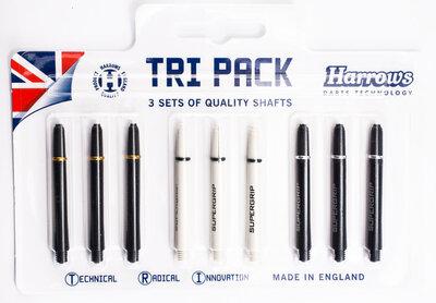 Harrows Tri Pack Supergrip medium shafts