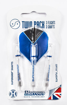 Harrows Twin Pack Supergrip Clear