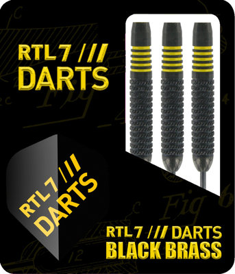 RTL7 Black Brass steeltip dartpijlen